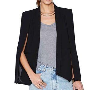 NWT Zara Woman Black Cape Blazer Sz S $129